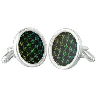 Checkered Moire Cufflinks