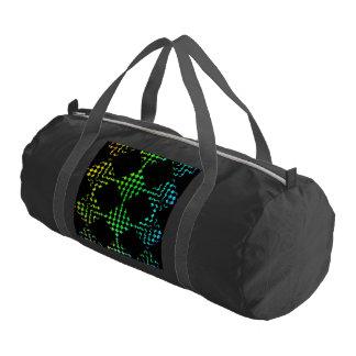Checkered Moire Gym Bag