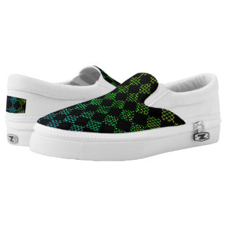 Checkered Moire Printed Shoes