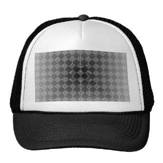 Checkered Moire Trucker Hat