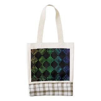 Checkered Moire Zazzle HEART Tote Bag