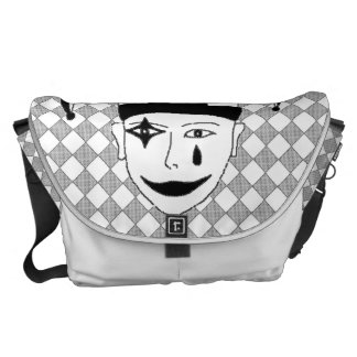 Checkered MTJ Courier Bag