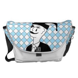 Checkered MTJ Messenger Bag