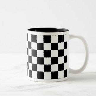 Checkered Coffee Mug