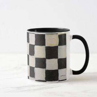 Checkered Mug  Black and White