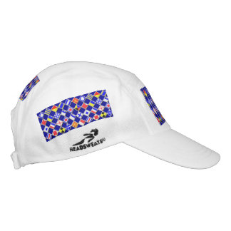 Checkered Nautical Flags Headsweats Hat