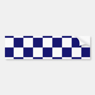 Checkered Navy and White Bumper Sticker