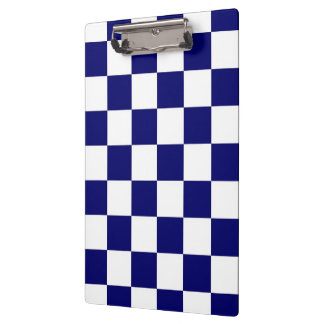 Checkered Navy and White Clipboard