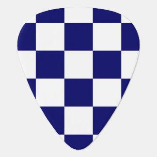 Checkered Navy and White Guitar Pick