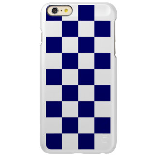 Checkered Navy and White Incipio Feather Shine iPhone 6 Plus Case