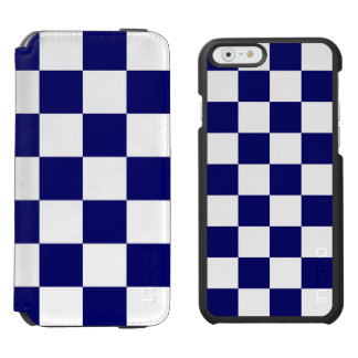 Checkered Navy and White iPhone 6/6s Wallet Case