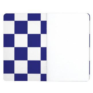 Checkered Navy and White Journal