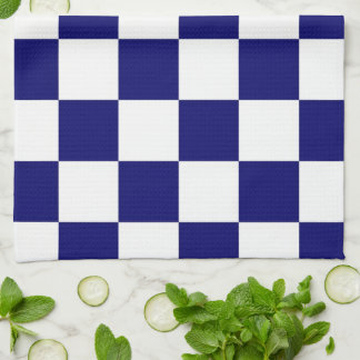 Checkered Navy and White Kitchen Towels