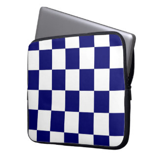 Checkered Navy and White Laptop Sleeves