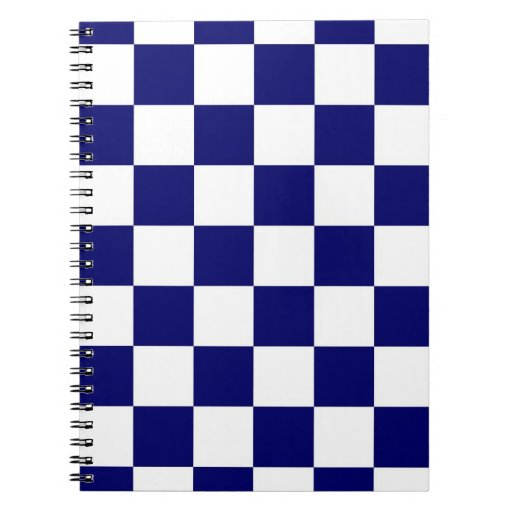 Checkered Navy and White Notebook
