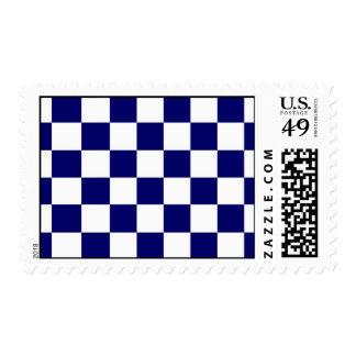 Checkered Navy and White Stamp