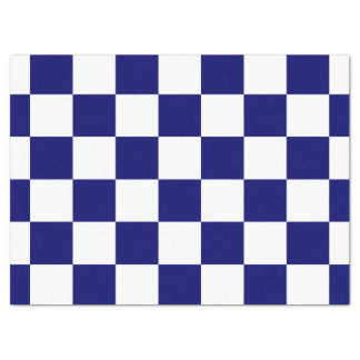 Checkered Navy and White Tissue Paper
