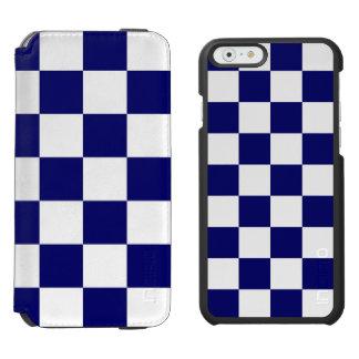 Checkered Navy and White Incipio Watson™ iPhone 6 Wallet Case