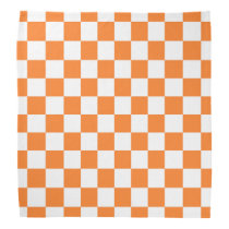 Checkered Orange and White Bandana