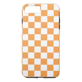 Checkered Orange Tile Design. iPhone 7 Plus Case