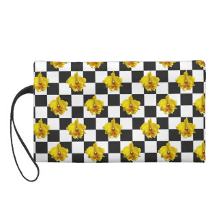 Checkered Orchid by Strawberry Blonde Wristlet Purse