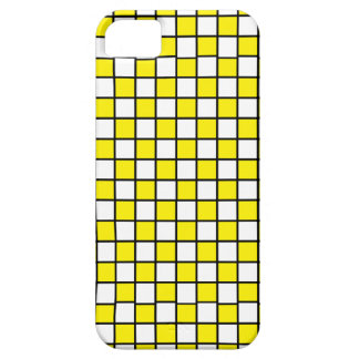 Checkered Outlined Yellow and Black iPhone SE/5/5s Case