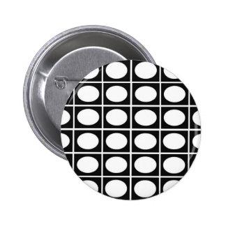 Checkered Ovals 2 Inch Round Button