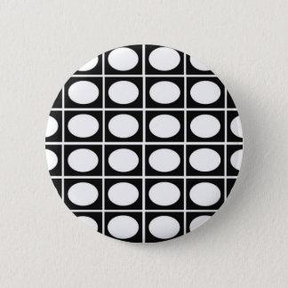 Checkered Ovals Button