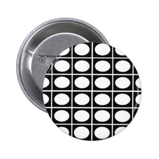 Checkered Ovals Pinback Button