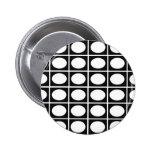 Checkered Ovals Pinback Button