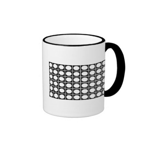 Checkered Ovals Ringer Coffee Mug