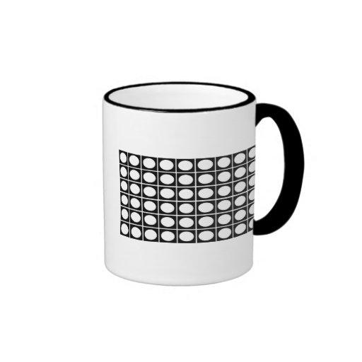 Checkered Ovals Ringer Coffee Mug