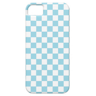 Checkered Pastel Blue and White iPhone SE/5/5s Case