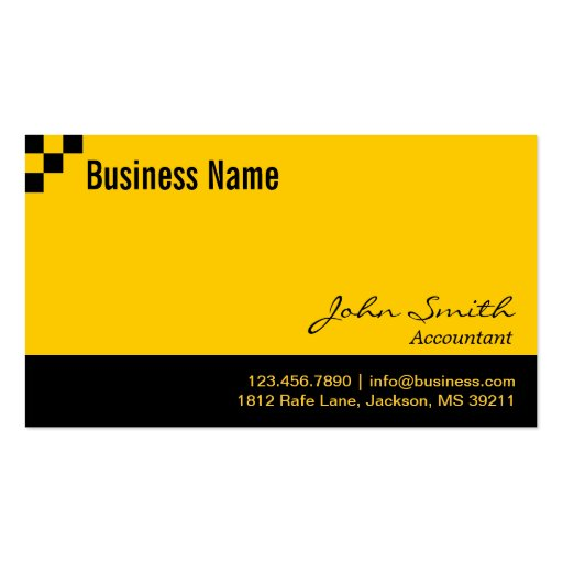 Checkered Pattern Accountant Business Card
