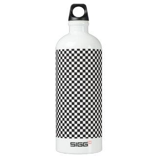 Checkered Pattern Aluminum Water Bottle