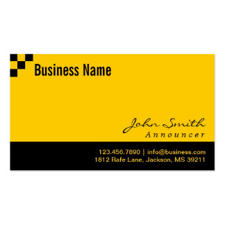 Checkered Pattern Announcer Business Card
