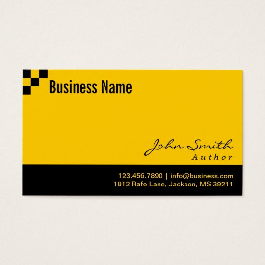 Checkered Pattern Author Business Card