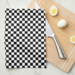 "Checkered Pattern Black and White Hand Towel<br><div class=""desc"">Checkered Pattern Black and White</div>"