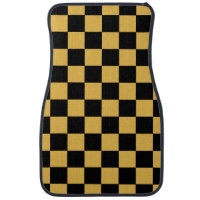 Checkered Pattern | DIY Background Color Car Floor Mat