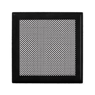 Checkered Pattern Gift Box