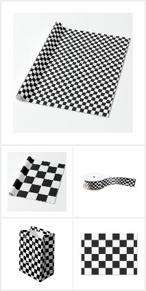 Checkered Pattern Gift Wrapping Supplies