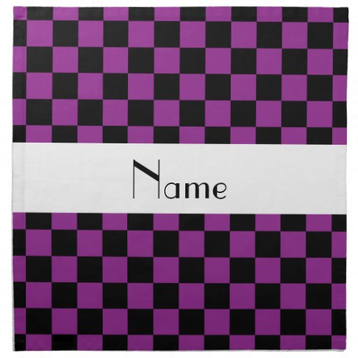 Checkered pattern in purple.png cloth napkins