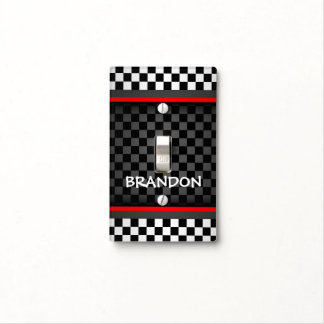 Checkered Pattern Light Switch Cover