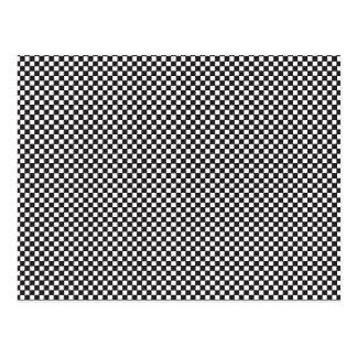 Checkered Pattern Postcard