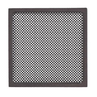 Checkered Pattern Premium Jewelry Boxes