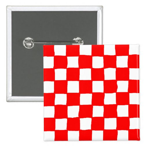 checkered pattern (red) 2 inch square button