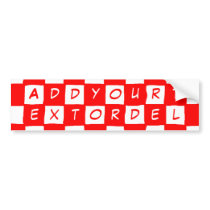 checkered pattern (red) bumper sticker