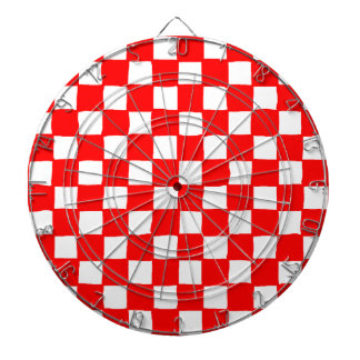 checkered pattern (red) Dartboard