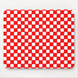 checkered pattern (red) mouse pad