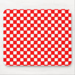 checkered pattern (red) mousepads